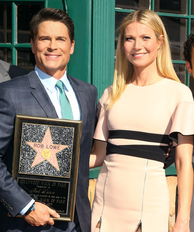 Rob Lowe, Gwyneth Paltrow and Fred Savage attend the ceremony honoring Rob Lowe with a Star on The Hollywood Walk of Fame held on December 8, 2015 in Hollywood, California.