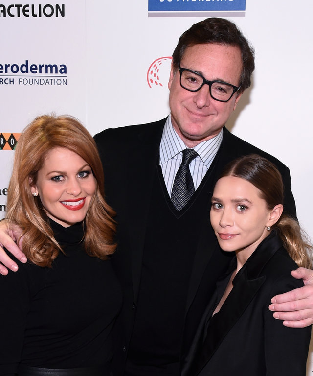 (L-R) Candace Cameron Bure, Bob Saget and Ashley Olsen attend Cool Comedy - Hot Cuisine, A Benefit For The Scleroderma Research Foundation at Carolines On Broadway on December 8, 2015 in New York City.