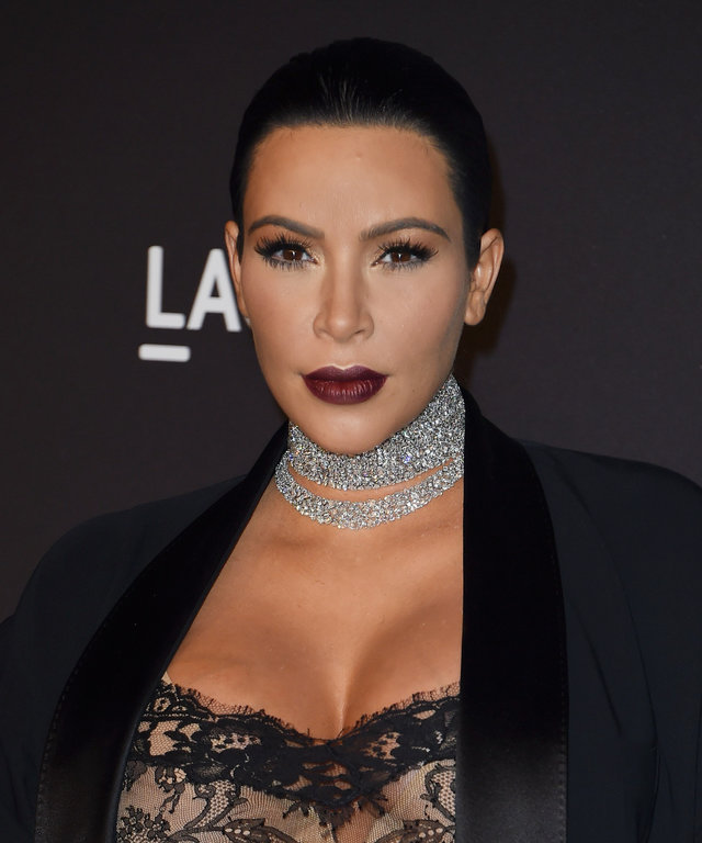 TV personality Kim Kardashian West arrives for the LACMA 2015 Art+Film Gala Honoring James Turrell and Alejandro G Iñárritu, Presented by Gucci at LACMA in Los Angeles, California on November 7, 2015.