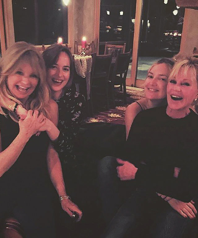 Dakota Johnson and Kate Hudson swap famous moms for pic