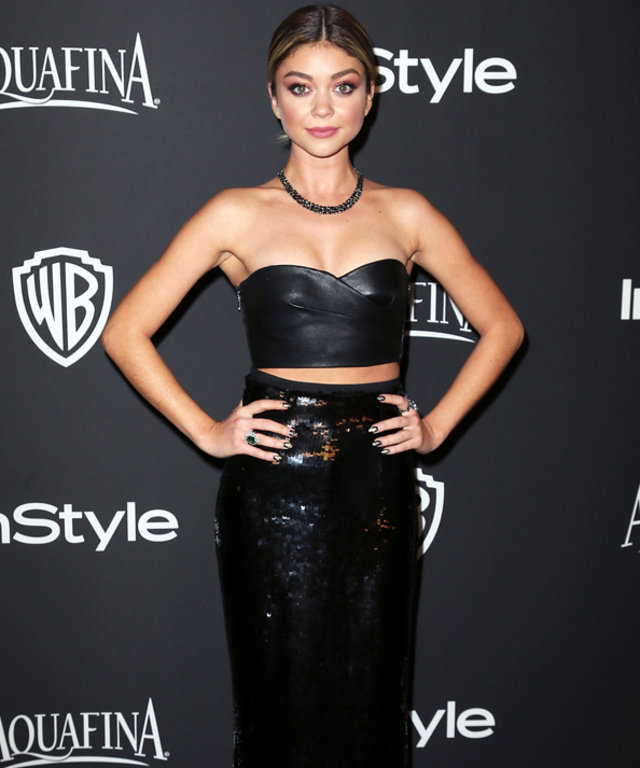 Sarah Hyland at 2015 Golden Globe Awards