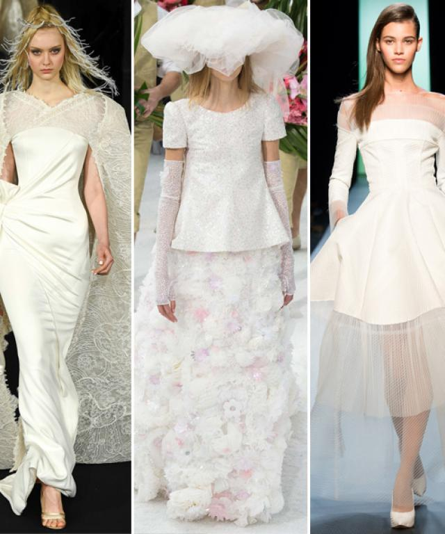 Bridal Looks from Couture Fashion Week