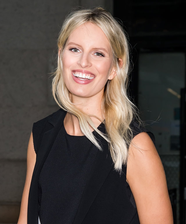 Model Karolina Kurkova is seen arriving at Desigual fashion show during Spring 2016 New York Fashion Week on September 10, 2015 in New York City.