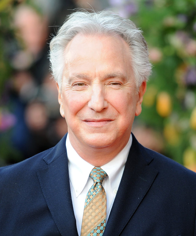 Alan Rickman attends the UK premiere of 'A Little Chaos' at ODEON Kensington on April 13, 2015 in London, England.