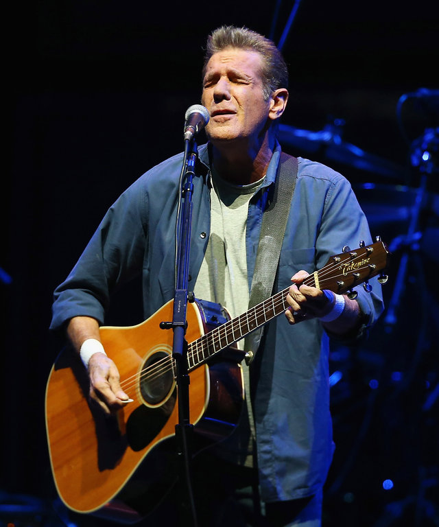 Glenn Frey and Don Henley of The Eagles perform live at Qantas Credit Union Arena on March 2, 2015 in Sydney, Australia.