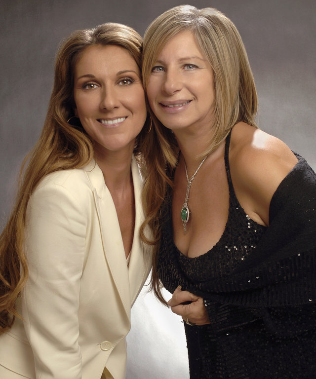 Celine Dion and Barbra Streisand