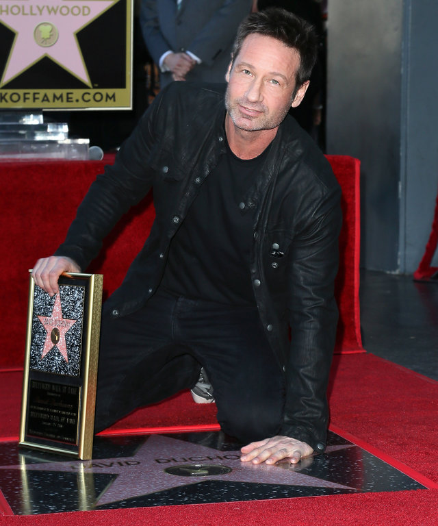 Actor David Duchovny attends his being honored with a Star on the Hollywood Walk of Fame on January 25, 2016 in Hollywood, California.