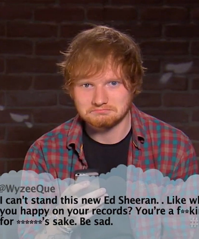 Ed Sheeran - Celebrity Mean Tweets - Jimmy Kimmel - Grammys