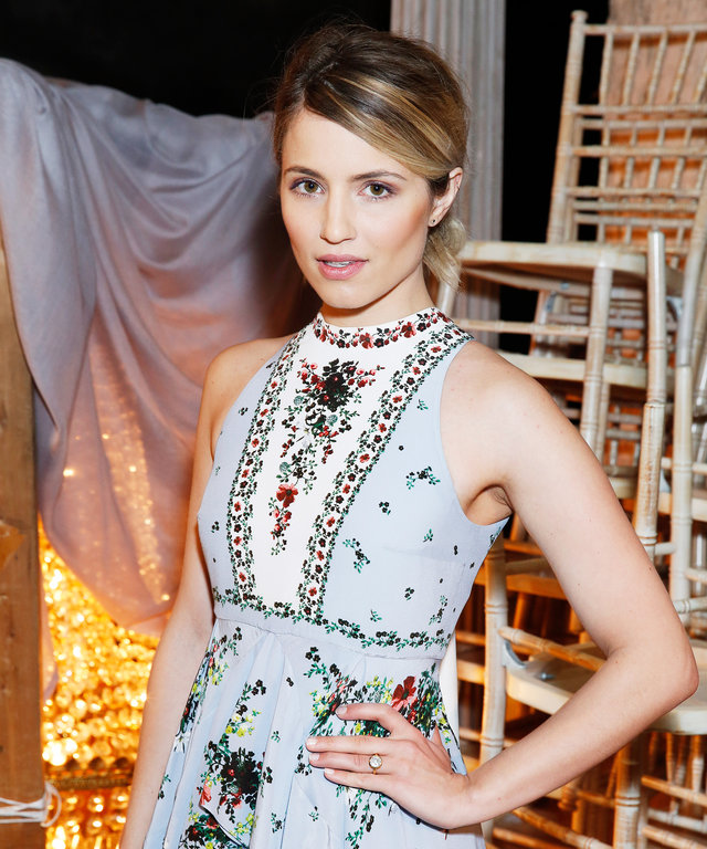 Dianna Agron attends the Erdem LFW AW16 show at The Old Selfridges Hotel on February 22, 2016 in London, England.