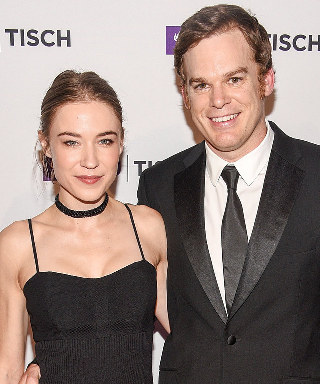 Morgan Macgregor (L) and Michael C. Hall attend the NYU Tisch School Of The Arts 2015 Gal at Frederick P. Rose Hall, Jazz at Lincoln Center on May 4, 2015 in New York City.