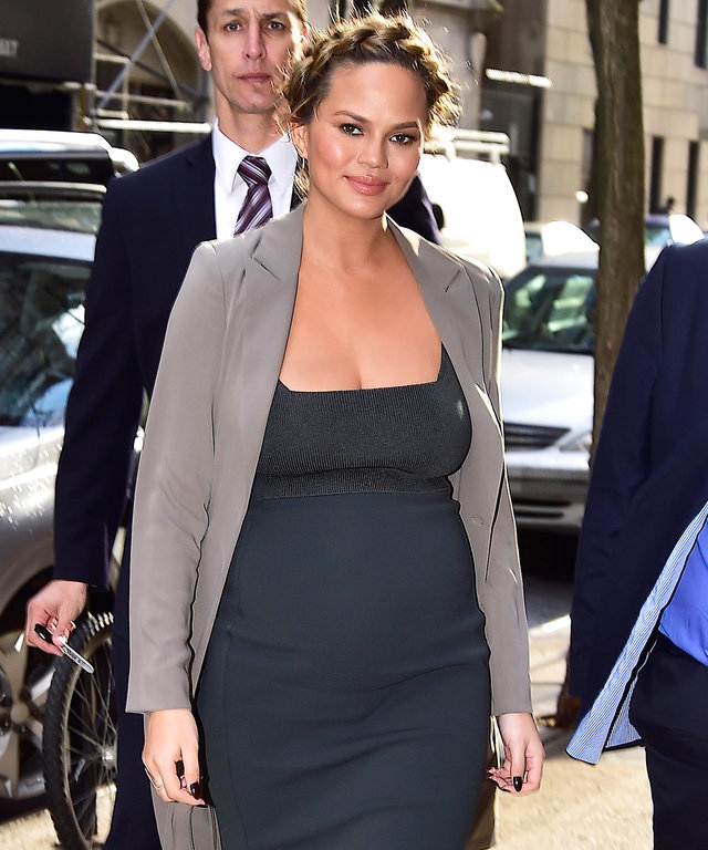 NEW YORK, NY - MARCH 02:  Chrissy Teigen is seen in Soho  on March 2, 2016 in New York City.  (Photo by Alo Ceballos/GC Images)