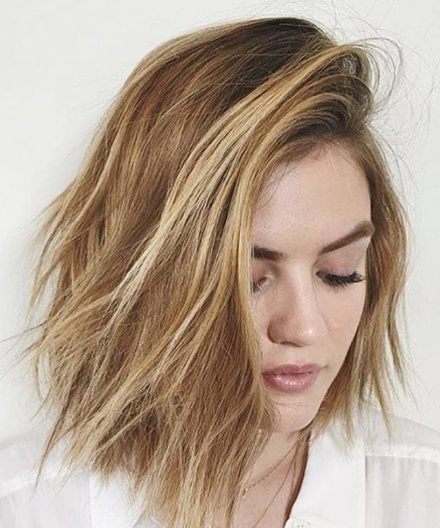 Lucy Hale - Hair Transformation 2016