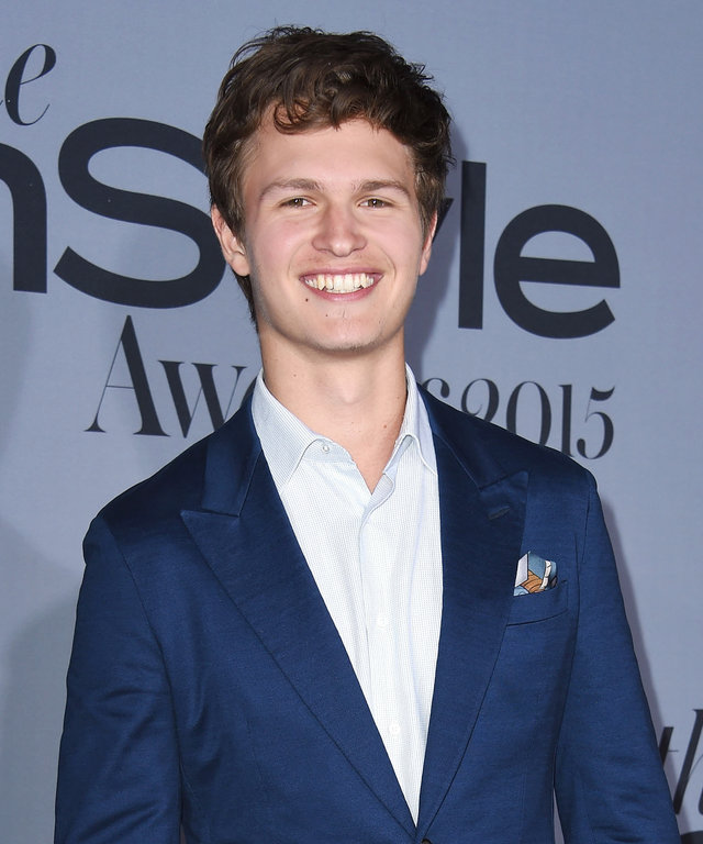 Ansel Elgort arrives at the InStyle Awards at Getty Center on October 26, 2015 in Los Angeles, California.