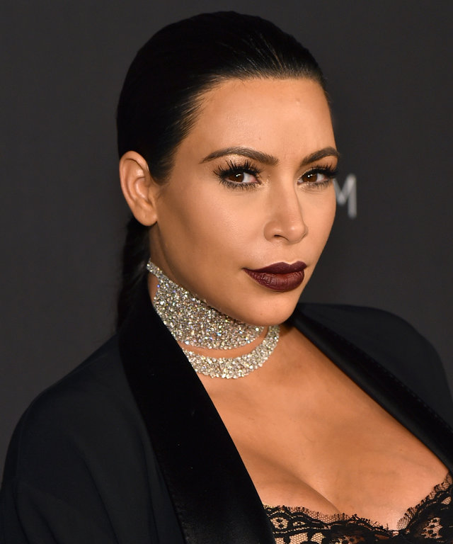 TV personality Kim Kardashian West attends LACMA 2015 Art+Film Gala Honoring James Turrell and Alejandro G Iñárritu, Presented by Gucci at LACMA on November 7, 2015 in Los Angeles, California.