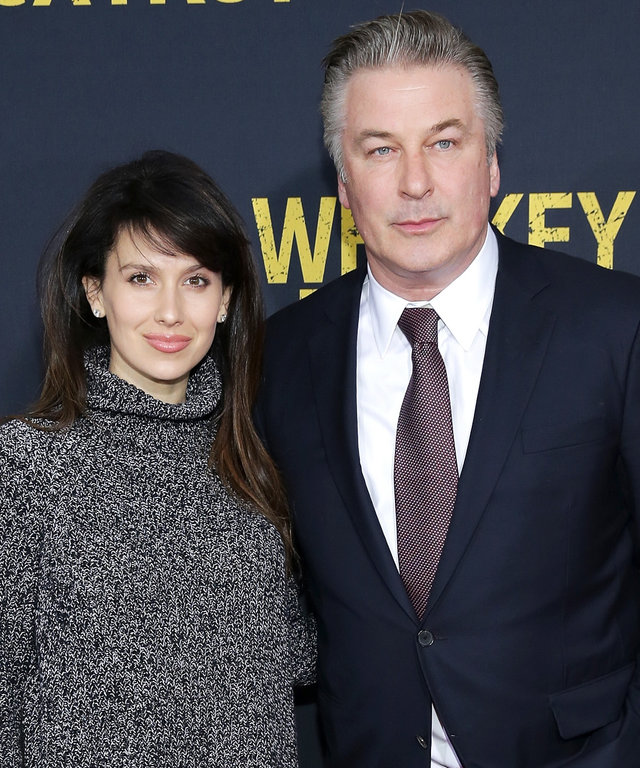 Hilaria Thomas Baldwin (L) and Alec Baldwin attend the World Premiere of the Paramount Pictures title 'Whiskey Tango Foxtrot', on March 1, 2016 at AMC Loews Lincoln Square in New York City, New York.