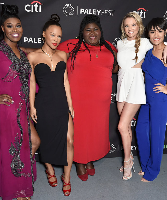 Ta'Rhonda Jones, Serayah, Gabourey Sidibe, Kaitlin Doubleday, and Grace Gealey at PaleyFest LA 2016 honoring Empire, presented by The Paley Center for Media, at the Dolby Theatre on March 11, 2016 in Hollywood, California.