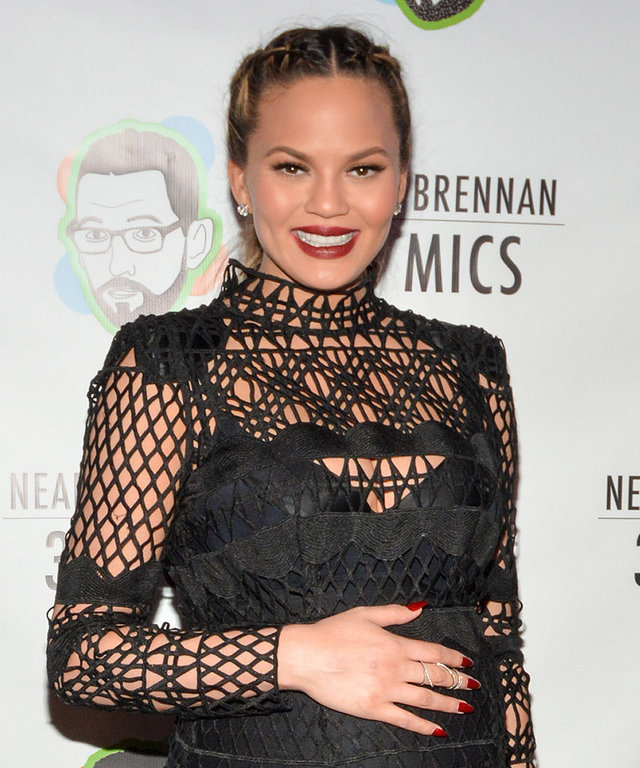 Chrissy Teigen attends the 'Neal Brennan 3 Mics' Opening Night at the Lynn Redgrave Theatre on March 3, 2016 in New York City.