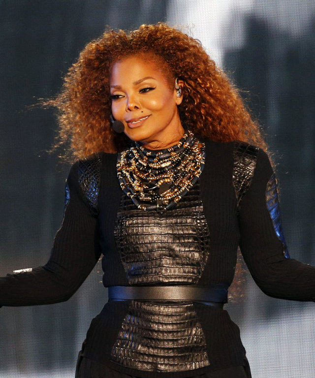 US singer Janet Jackson performs during the Dubai World Cup horse racing event on March 26, 2016 at the Meydan racecourse in the United Arab Emirate of Dubai. Janet Jackson returned to the stage after a four-month hiatus for mysterious health reasons, bri