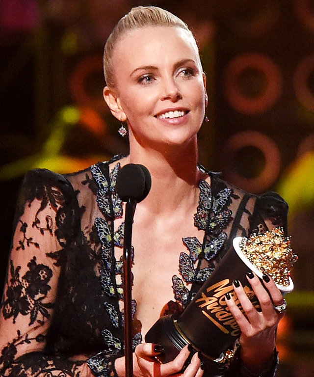 "Charlize Theron Accepts Her 2016 MTV Movie Award ""For All the Furiosas Out There"""