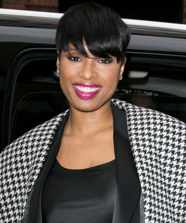 Actress Jennifer Hudson arrives to attend the DKNY fashion show on February 17, 2016 in New York City.