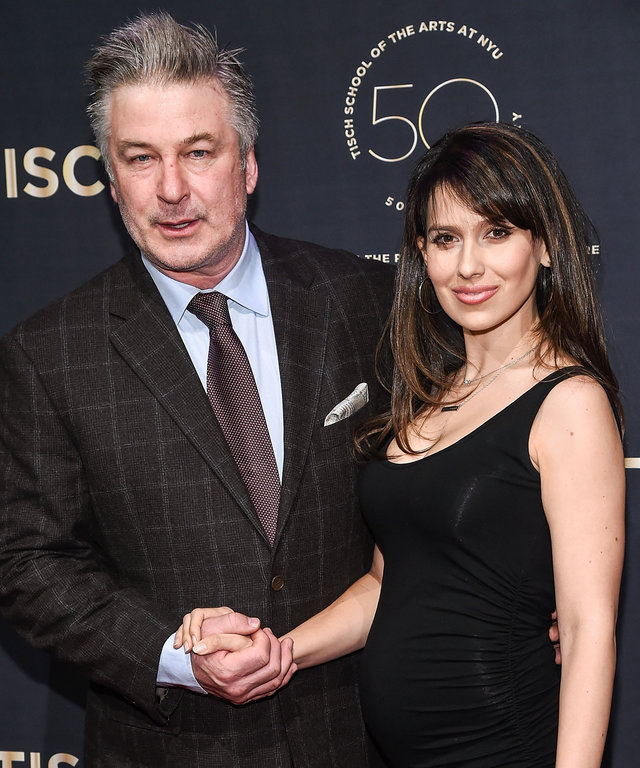 Alec Baldwin and Hilaria Baldwin attend the NYU Tisch School of the Arts 50th Anniversary Gala at Frederick P. Rose Hall, Jazz at Lincoln Center on April 4, 2016 in New York City.
