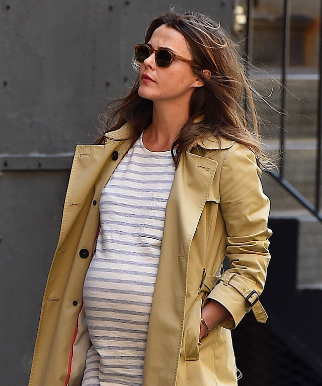 Keri Russell is seen in Gramecy  on April 18, 2016 in New York City.