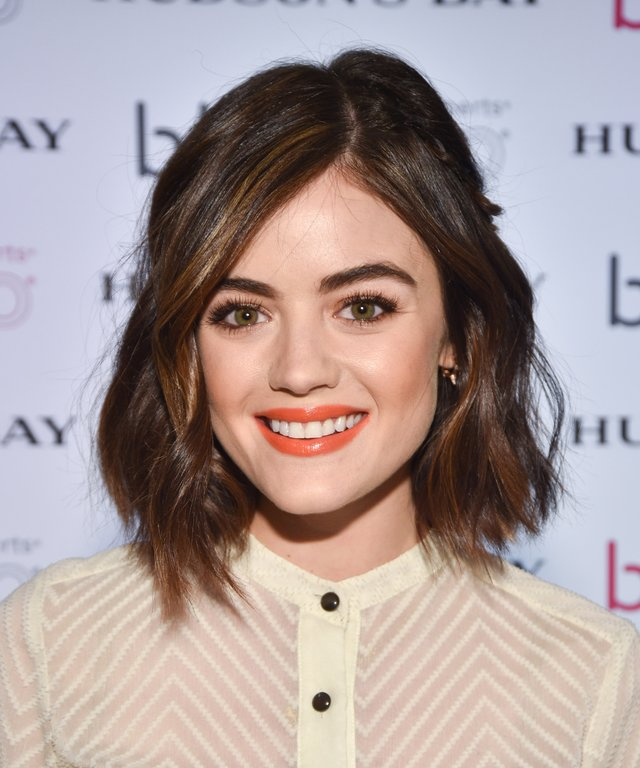 Actress Lucy Hale attends her launch of BlowPro at Hudson's Bay.