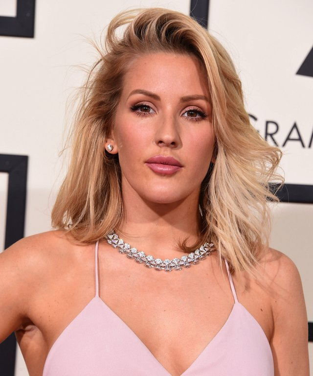 Ellie Goulding arrives at the The 58th GRAMMY Awards at Staples Center.