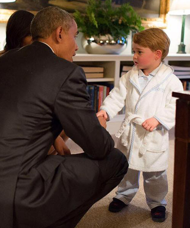 Prince George Plays with the Obamas in His PJs and We Can't Handle the Cuteness