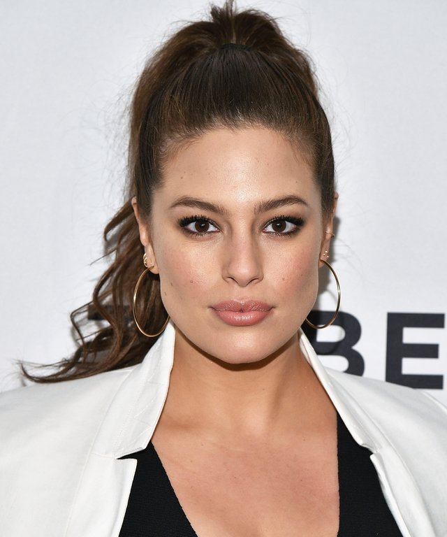 Model Ashley Graham attends the #ActuallySheCan Film Series event at Bow Tie Chelsea Cinemas.