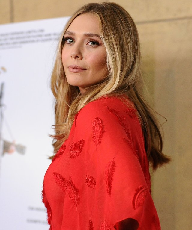 Actress Elizabeth Olsen attends the premiere of 'I Saw The Light' at the Egyptian Theatre.
