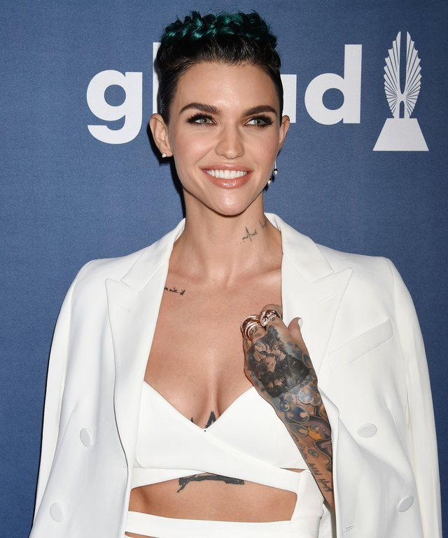 Ruby Rose attends the 27th Annual GLAAD Media Awards at the Beverly Hilton Hotel.