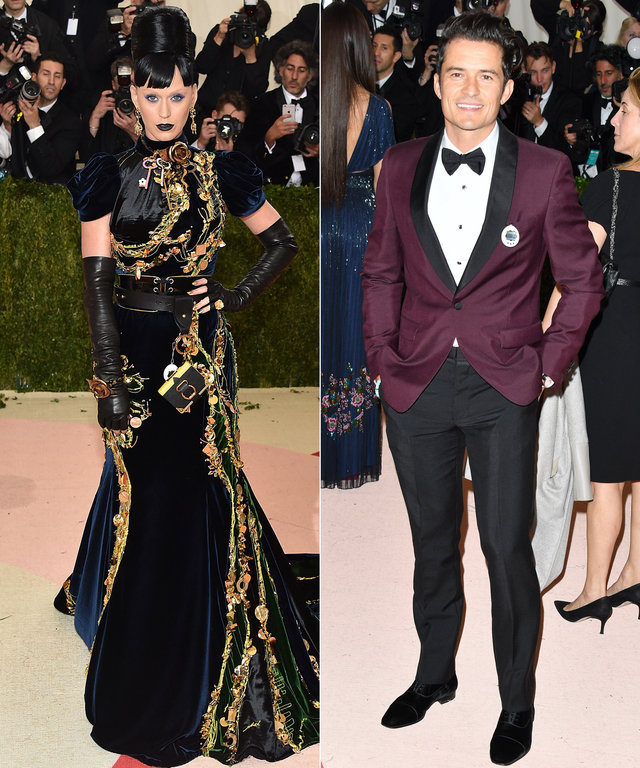 Katy Perry and Orlando Bloom Wore Matching Tamagotchis to the Met Gala