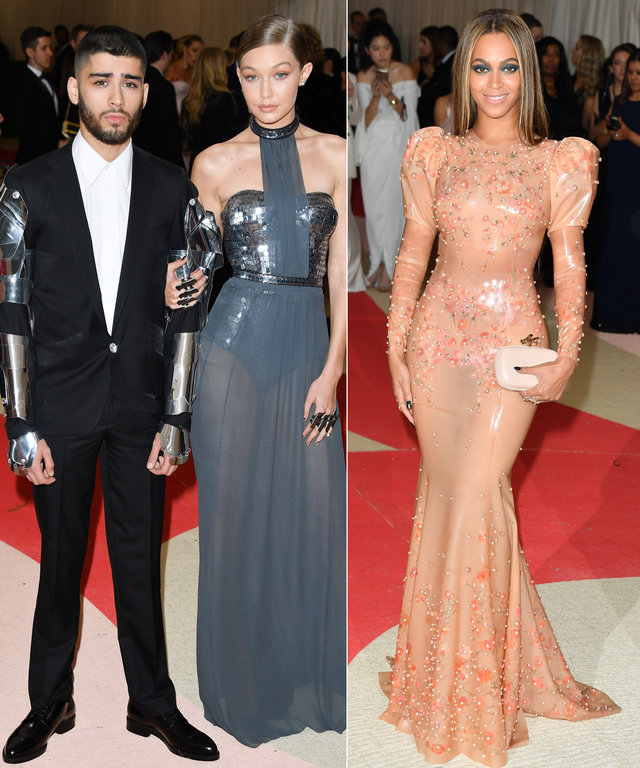 Zayn Malik, Gigi Hadid and Beyonce - Met Ball