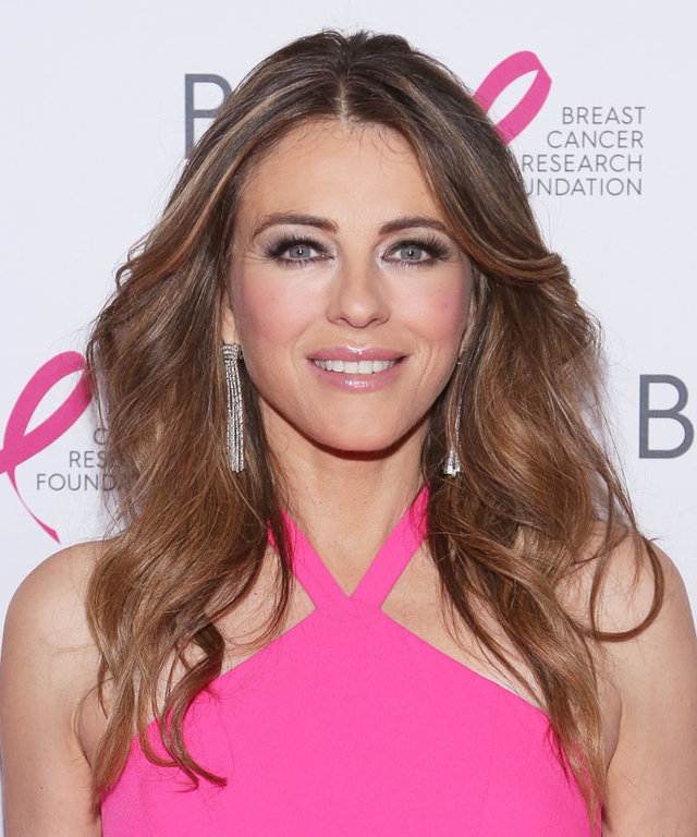 NEW YORK, NEW YORK - APRIL 12:  Elizabeth Hurley attends 2016 Breast Cancer Research Foundation Hot Pink Party at The Waldorf=Astoria on April 12, 2016 in New York City.  (Photo by Rob Kim/Getty Images)