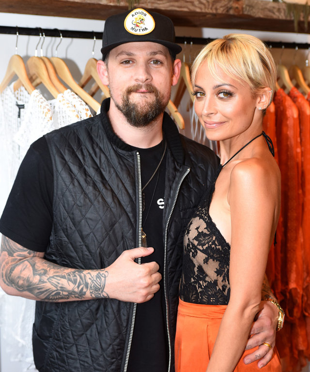 """LOS ANGELES, CA - JULY 07:  Singer Joel Madden (L) and Nicole Richie attend VH1's """"Candidly Nicole"""" Season 2 Premiere Event at House of Harlow at The Grove on July 7, 2015 in Los Angeles, California.  (Photo by Jeff Vespa/Getty Images for VH1)"""