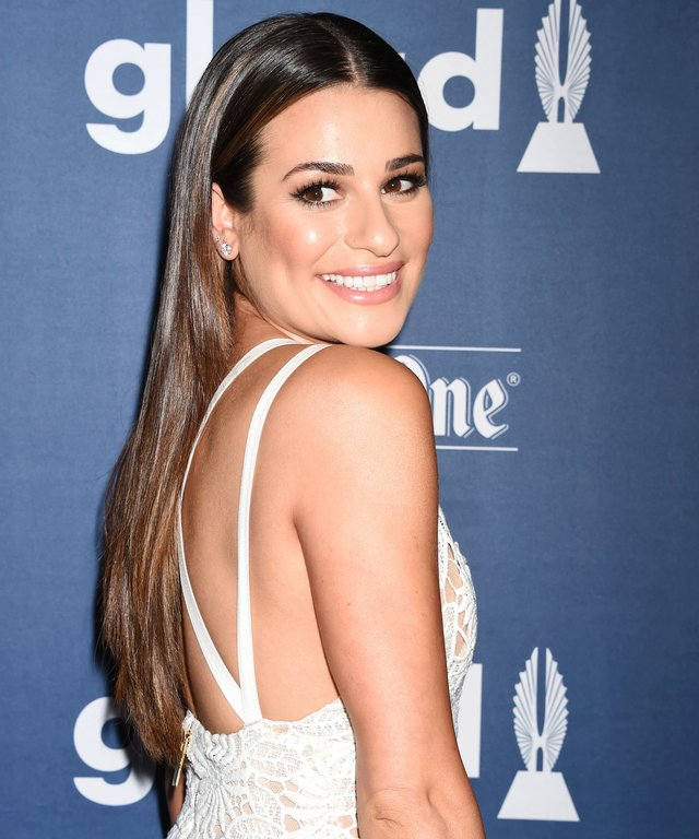 Phenomenal Lea Michele Summer Sandy Hair Color Photos Of Lea Micheles Natural Hairstyles Runnerswayorg