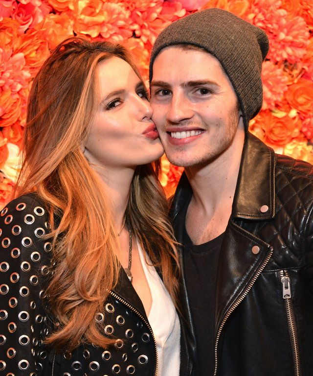 Bella Thorne and Gregg Sulkin attend the boohoo.com Flagship LA Pop Up Store.
