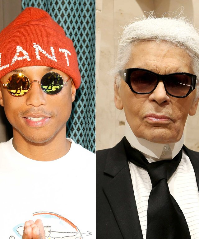 Pharrell and Karl Lagerfeld
