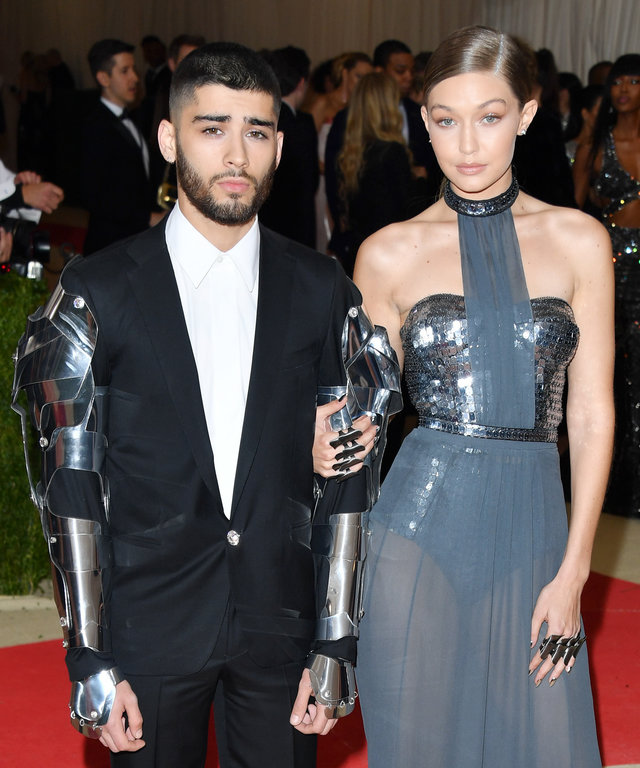 Zayn Malik and Gigi Hadid attend the 'Manus x Machina: Fashion in an Age of Technology' Costume Institute Gala at the Metropolitan Museum of Art on May 2, 2016 in New York City.