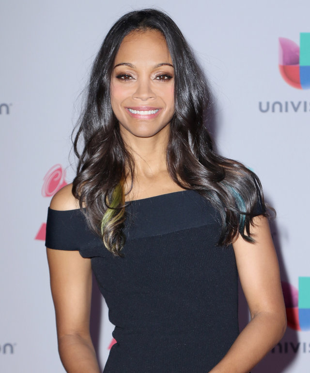 Actress Zoe Saldana attends the 16th Latin GRAMMY Awards at the MGM Grand Garden Arena on November 19, 2015 in Las Vegas, Nevada.