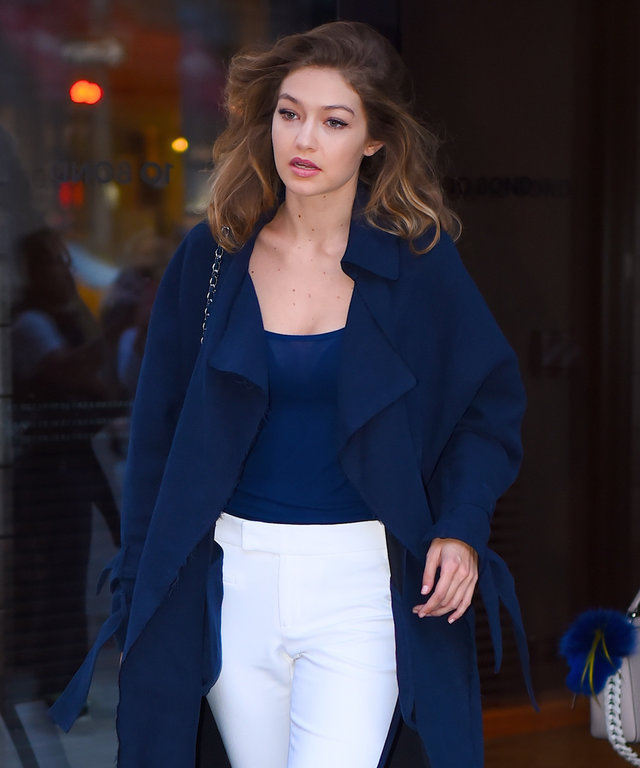 Gigi Hadid and Bella Hadid seen out in SoHo on June 9, 2016 in New York City.