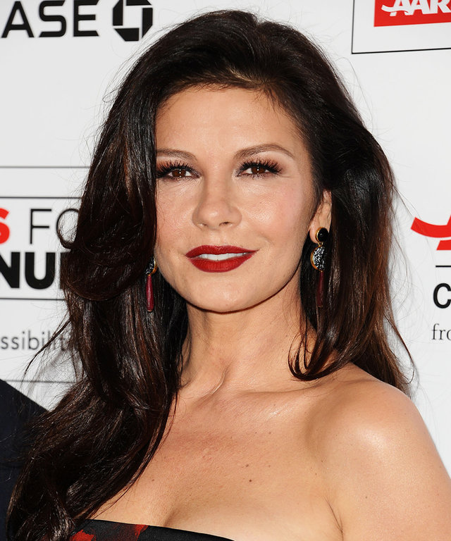 BEVERLY HILLS, CA - FEBRUARY 08:  Actress Catherine Zeta-Jones attends the 15th annual Movies For Grownups Awards at the Beverly Wilshire Four Seasons Hotel on February 8, 2016 in Beverly Hills, California.  (Photo by Jason LaVeris/FilmMagic)