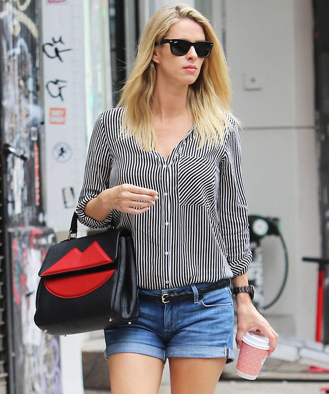 2b6fa63c5190 Nicky Hilton Wears Denim Cutoffs Just 1 Week After Giving Birth to First  Daughter