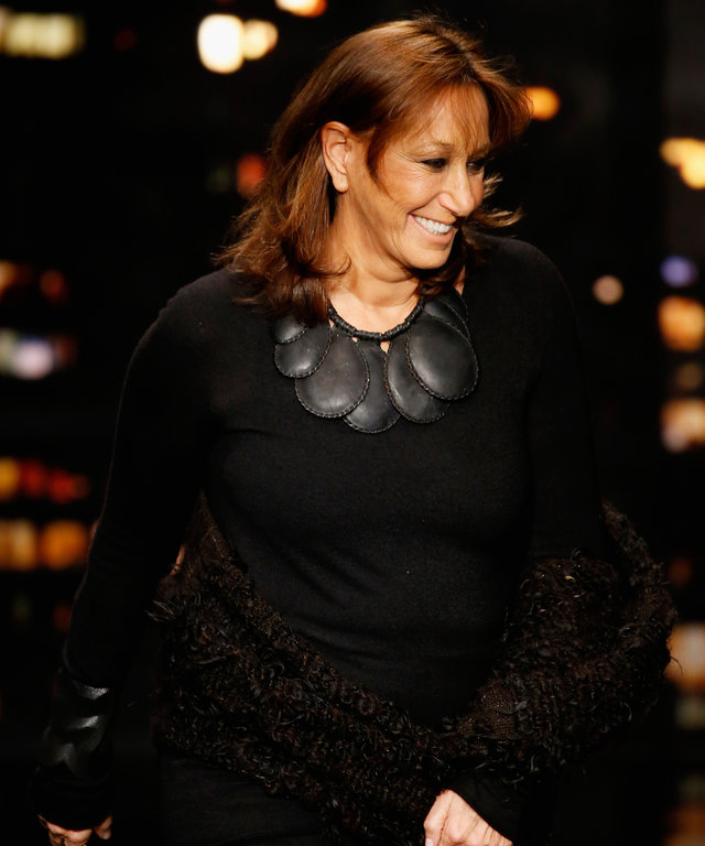 NEW YORK, NY - FEBRUARY 16:  Designer Donna Karan walks the runway at the Donna Karan New York fashion show during Mercedes-Benz Fashion Week Fall 2015 on February 16, 2015 in New York City.  (Photo by JP Yim/Getty Images for Mercedes-Benz Fashion Week)