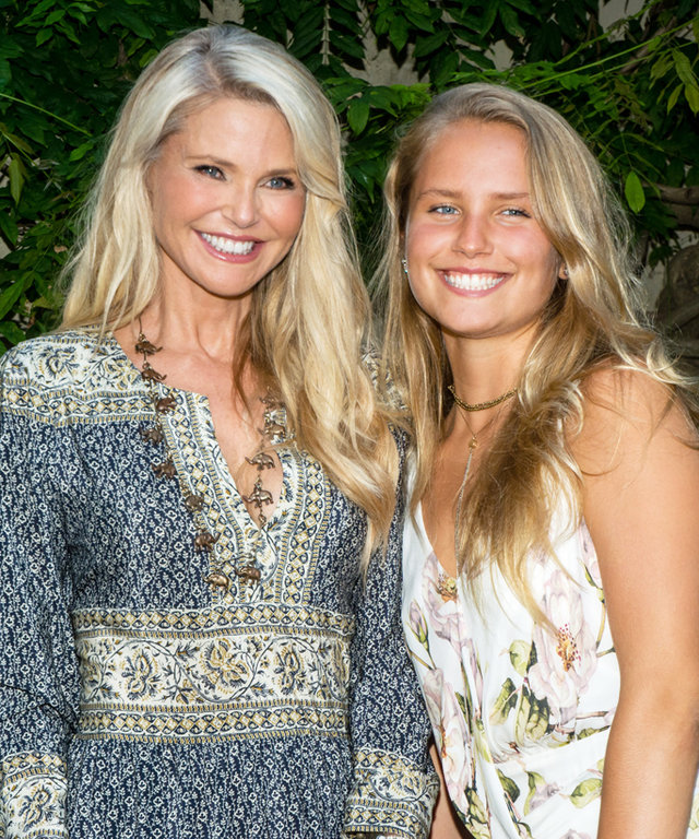 EAST HAMPTON, NY - AUGUST 12:  Christie Brinkley and Sailor Brinkley Cook attend the 2016 Chefs & Champagne For Elephants at The Baker House 1650 on August 12, 2016 in East Hampton, New York.  (Photo by Steven A Henry/Getty Images)