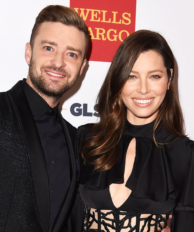 BEVERLY HILLS, CA - OCTOBER 23:  Jessica Biel and Justin Timberlake arrives at the 2015 GLSEN Respect Awards at the Beverly Wilshire Four Seasons Hotel on October 23, 2015 in Beverly Hills, California.  (Photo by Steve Granitz/WireImage)
