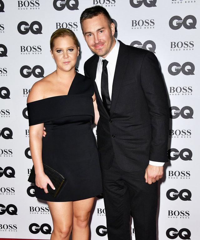 LONDON, ENGLAND - SEPTEMBER 06:  Amy Schumer and Ben Hanisch arrive for GQ Men Of The Year Awards 2016 at Tate Modern on September 6, 2016 in London, England.  (Photo by Gareth Cattermole/Getty Images)