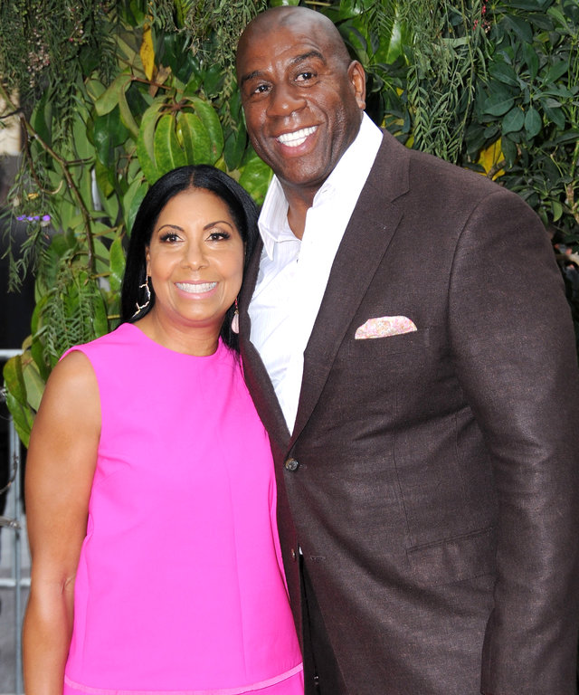 Magic Johnson and Wife Cookie Celebrate 25th Wedding Anniversary in True Style