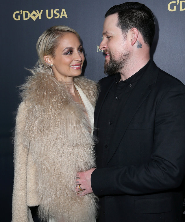 LOS ANGELES, CA - JANUARY 28:  (L-R) Nicole Richie and Joel Madden attend the 2016 G'Day Los Angeles Gala at Vibiana on January 28, 2016 in Los Angeles, California.  (Photo by Jonathan Leibson/Getty Images)
